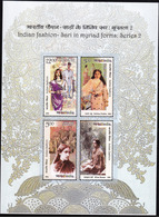 5X INDIA 2019 India Fashion - Sari In Myriad Forms; Miniature Sheet, MINT - India