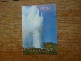 "Islande , Geysir , The Worid Famous Spouting Hot Spring """" Carte Animée """" - Islande"