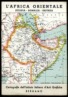 CV2789 COLONIALI L'Africa Orientale - Etiopia, Somalia, Eritrea, Cartografia Dell'Istituto Italiano D'Arti Grafiche, Be - War 1939-45