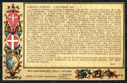 """CV2790 MILITARI Bollettino Della Vittoria: """"I Resti Di Quello…"""" FP, Non Viaggiata, Ottime Condizioni - War 1914-18"""