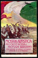 CV2791 CROCE ROSSA 1915 Mostra Artistica Pro Croce Rossa E Profughi Irredenti, Firmata Mauzan, FP, Viaggiata 1915 Da Mil - Croce Rossa