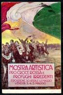 CV2791 CROCE ROSSA 1915 Mostra Artistica Pro Croce Rossa E Profughi Irredenti, Firmata Mauzan, FP, Viaggiata 1915 Da Mil - Red Cross