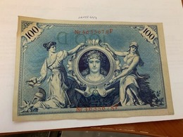 Germany 100 Mark Banknote 1908 Red Seal - [ 2] 1871-1918 : German Empire