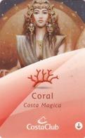 ITALY Cabin Keycard - COSTA MAGICA Pearl ,Used - Hotelkarten