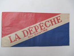 """TOURS, 37 - Chapeau Publicitaire Journal """"La Dépèche Du Centre"""" - Publicités"""