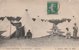 Carte Postale Ancienne De La Sarthe - Camp D'Auvours - Vue Des Tentes - Militaires - Altri Comuni