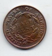 USA : 1/2 Ct 1825 - Émissions Fédérales