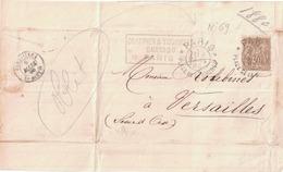 LETTRE - 1876-1878 Sage (Type I)