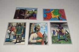 Lot De 5 Histoire De Belgique: 46 Roi Fainéant 47 Charles Martel Poitiers 48 Pépin Le Bref 49 Charlemagne 50 Partage Emp - Altri