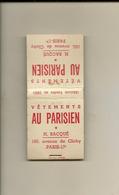 Pochette Allumettes LASTAR De 1954 Neuve Et Pleine:Vêtements AU PARISIEN H.Bacqué  LA 1471 - Boites D'allumettes