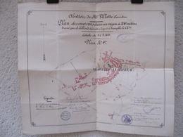 NEAUPHLE LE CHATEAU, 78 - Abattoir De Mr Villatte, Charcutier - 2 Documents Dressés Par Géomètre, 1885 - Architecture
