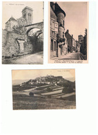 1935-723  22cp+ Mini Carnet Complet Vézelay Dep 89 La Vente Sera Retirée  Le 14-09 - Vezelay