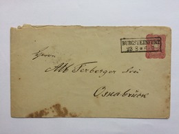 GERMANY 1877 Cover Burgsteinfurt Rectangular Cancel To Osnabruck - Germany
