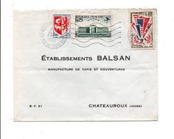 AFFRANCHISSEMENT COMPOSE SUR LETTRE DE MONTROUGE VACHE NOIRE 1966 - Storia Postale