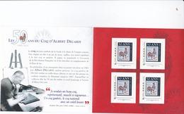 Carnet Collector  50 Ans Du Coq De DECARIS 4 ID Timbre Tarif Lettre Prio 20 G - France