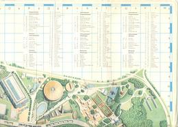 BRUXELLES Exposition 1958 - Expo 58 -  Plan De L' Exposition Avec Légende Trilingue   (b260) - Marque-Pages