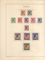 LIBIA LIBYA 1952 1969 COLLEZIONE COMPLETA SU FOGLI MARINI COMPLETE COLLECTION MNH - Libia