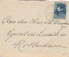 Nederland - 1936 - 12,5+3,5 Cent Zomerzegel Erasmus Op Briefje Van Valkenburg Naar Rotterdam - Storia Postale