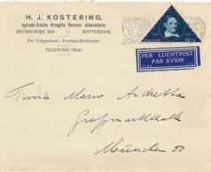Nederland - 1936 - 12,5 Cent Academia, Voetius Op LP-business Cover Van Rotterdam Naar München / Deutschland - 1891-1948 (Wilhelmine)