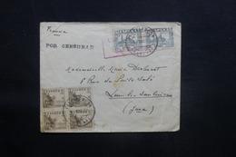 ESPAGNE - Enveloppe Pour La France En 1937 Avec Cachet De Censure ,affranchissement Plaisant - L 41482 - Republikanische Zensur