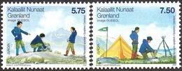 CEPT / Europa 2007 Groenland N° 459 Et 460 ** Le Scoutisme  - Enfants - Europa-CEPT