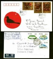 LOT 3 LETTRE CHINE POSTE AERIENNE 1989-91 JOLI TIMBRAGES + 1 LETTRE DU JAPON 1975 3 TIMBRES- 2 SCANS - Poste Aérienne