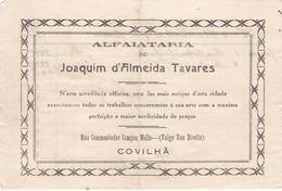 PORTUGAL - COVILHÃ   - COMMERCIAL DOCUMENT - ALFAIATARIA DE JOAQUIM D'ALMEIDA TAVARES 1928 - Portugal