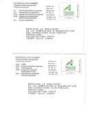 PAP Réponse TSC Elections 2013 - Les Enveloppes Des 2 Collèges Neuves - Ganzsachen