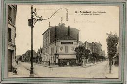 CPA -ARGENTEUIL (95) -Thèmes : Eclairage Public, Lampe, Lampadaire, Lampisterie - Rues Nationale Et Gare - Argenteuil