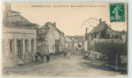 28020 - MONTAIGU - RUE DE SAINT ERME / MAISON DETRUITE PAR UNE MINE ALLEMANDE - France
