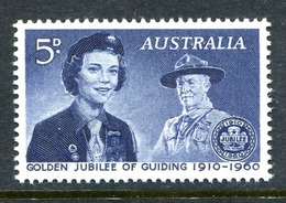 Australia 1960 50th Anniversary Of Girl Guide Movement MNH (SG 334) - Mint Stamps