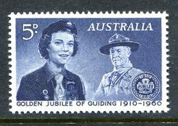 Australia 1960 50th Anniversary Of Girl Guide Movement MNH (SG 334) - 1952-65 Elizabeth II : Pre-Decimals