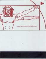 HOTEL KEY CARD. LEONARDO HOTELS. (Leonardo Da Vinci, Uomo Vitruviano) (020). - Cartes D'hotel
