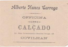 PORTUGAL - COVILHÃ   - COMMERCIAL DOCUMENT - ALBERTO NUNES CARREGA - OFICINA DE CALÇADO 1915 - Portugal