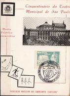 Postal History: Brazil Commemorative Card / Folhinha Comemorativa - Music