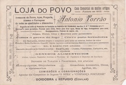 PORTUGAL - COVILHÃ   - COMMERCIAL DOCUMENT - LOJA DO POVO - ANTONIO TORRÃO - ARMAZEM DE FERRO - 1920 - Portugal