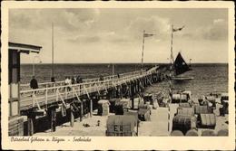 Cp Ostseebad Göhren Auf Rügen, Blick Auf Die Seebrücke, Strandpartie - Deutschland