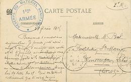 Themes Div-ref DD155- Guerre 1914-18- Neufchateau - Vosges -cachets -cachet Reserve Du Materiel Sanitaire 1ere Armée - - Marcophilie (Lettres)