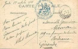 Themes Div-ref DD154-cachets - Cachet - Guerre 1914-18- Baron - Oise -130eme Regiment Territorial D Infanterie  - - Guerra Del 1914-18