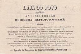 PORTUGAL - COVILHÃ   - COMMERCIAL DOCUMENT - LOJA DO POVO - 1916 - Portugal