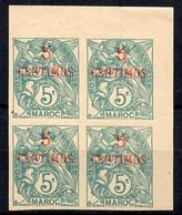 Maroc Maury N° 14 En Bloc De 4 Non Dentelés Neufs ** MNH. TB. A Saisir! - Maroc (1891-1956)