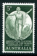 Australia 1962 Associated Country Women Of The World Conference MNH (SG 344) - 1952-65 Elizabeth II : Pre-Decimals