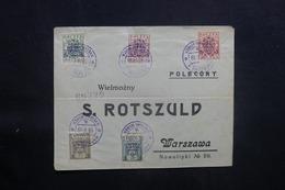 POLOGNE - Enveloppe De La 1ère Exposition Philatélique De Varsovie En 1919, Affranchissement Plaisant  - L 41493 - ....-1919 Provisional Government