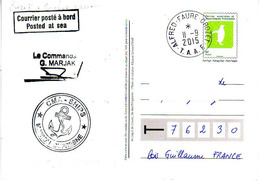 FSAT TAAF. Marion Dufresne. 11.09.2015 Crozet Entier Postal - Enteros Postales