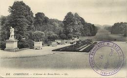 Themes Div-ref DD152-cachets - Cachet - Guerre 1914-18- Compiegne - Oise - Train Sanitaire Semi Permanent No 9 -etat  - - WW I