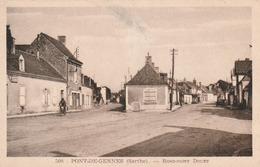 Carte Postale Ancienne De La Sarthe - Pont De Gennes - Rond Point Douet - Altri Comuni