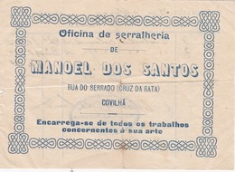 PORTUGAL - COVILHÃ   - COMMERCIAL DOCUMENT - MANUEL DOS SANTOS - OFICINA DE SERRALHARIA - Portugal