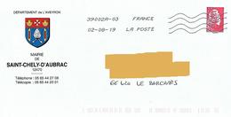 Blason Mairie St Chély D'Aubrac Aveyron Coqiolle Saint Jacques Croix Malte Mitre Toshiba - Omslagen