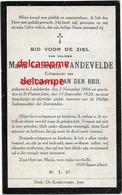 Bidprentje Maria Vandevelde Liedekerke 1866 En Overleden Te Jette  1920 Van Den Bril Doodsprentje - Devotieprenten