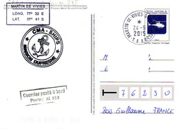 FSAT TAAF. Marion Dufresne. 24.09.2015 SPA Entier Postal Amsterdam - Enteros Postales